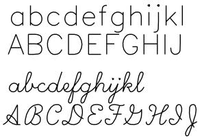 Line free fonts single Single Line